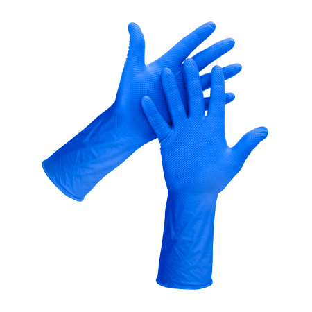 Blue Diamond Textured Gloves