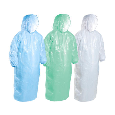 Rain/Splash Jackets LDPE - Hooded