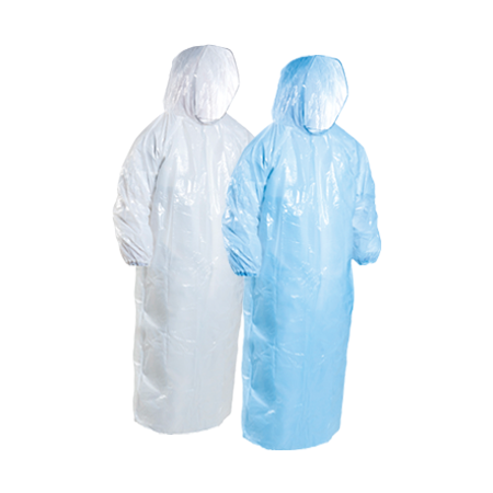 Rain/Splash Jackets With Hood LDPE - 780x1500mm
