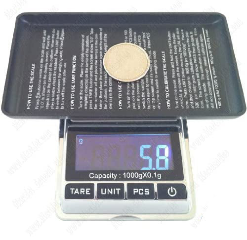 DigiWeigh Chrome Scale 100g x 0.01 with calibration weight