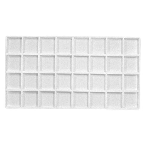 32 Compartment White Flocked Tray Insert