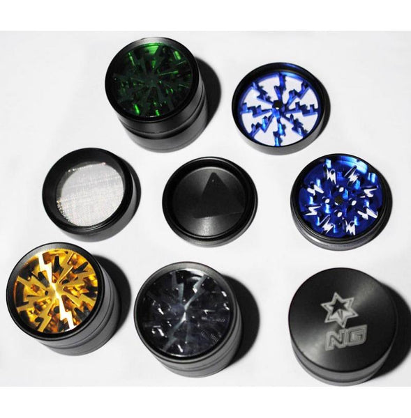 "NG 2"" 4 piece Grinder w/ Colour Clear Top"