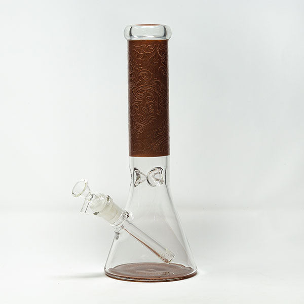 12″ Glass Beaker - Copper Wrap
