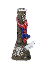 "12.5"" Nice Glass 3D Wrap Spidey Beaker"