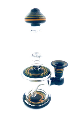 Decipher Glass - Black And Orange Striped Rig