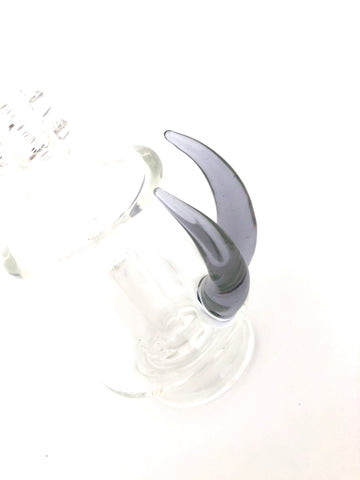 Algae Glass - Clear W/ Illuminati Coloured Up Horn - Puffco Peak Attachment