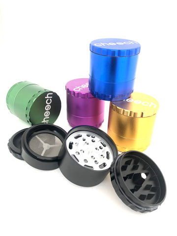 Cheech Large 4 piece Grinder with pyramid teeth