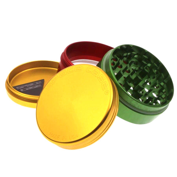 Space Case Grinder - 4pc Small - Rasta Design