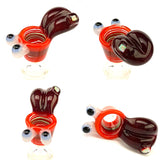 Sweers Glass - 14mm Mouth Full of Buds Bowl with Opal - Orange, Black and Red