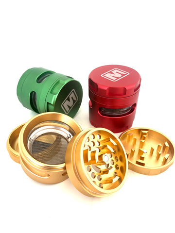 Marley 4pcs Metal Grinder- Large with window