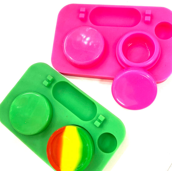 2 Compartments Silicone Container