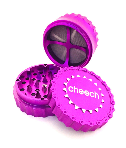 Cheech 4 Piece Grinder w/ Removable and Replacement Screens