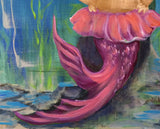 mermaid tail commission painting