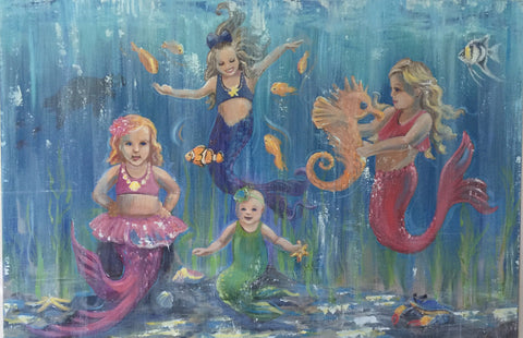 mermaid girls mermakers young girls underwater