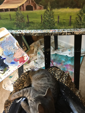 kitten artist painting Sophie dare