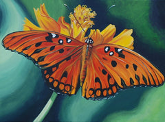 gulf fritillary butterfly sophie dare painting