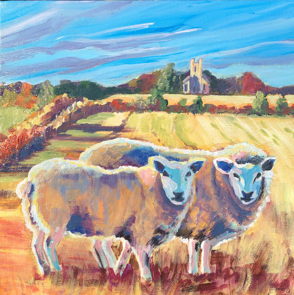 Sheep at Parrandier Paper Print