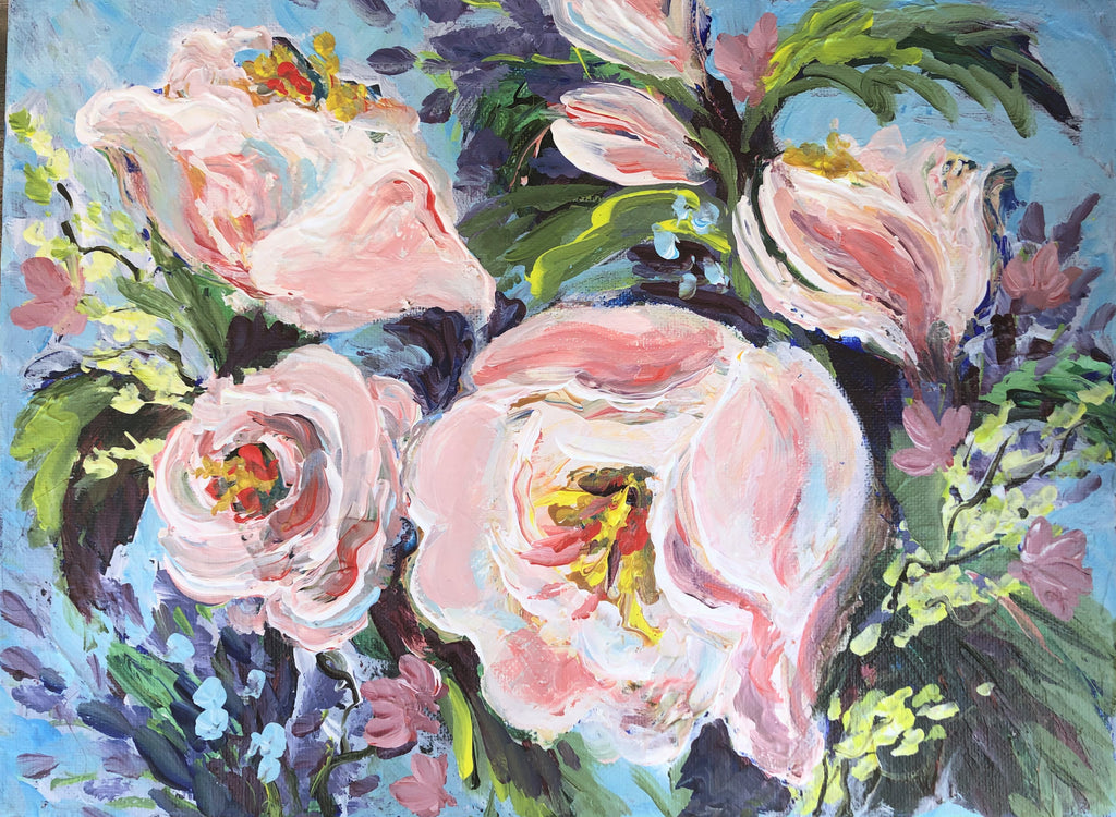 Pink Peonies in Abstract