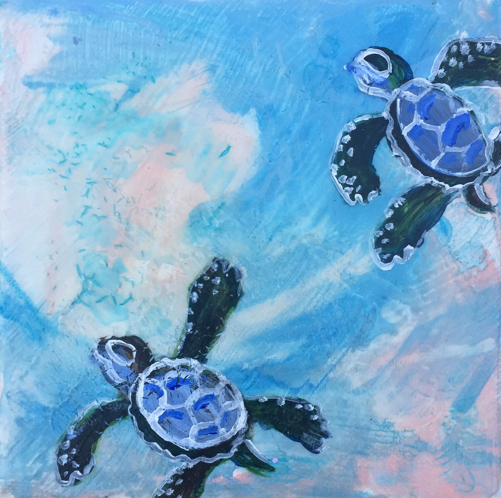 Sea Turtle Baby Journey 1