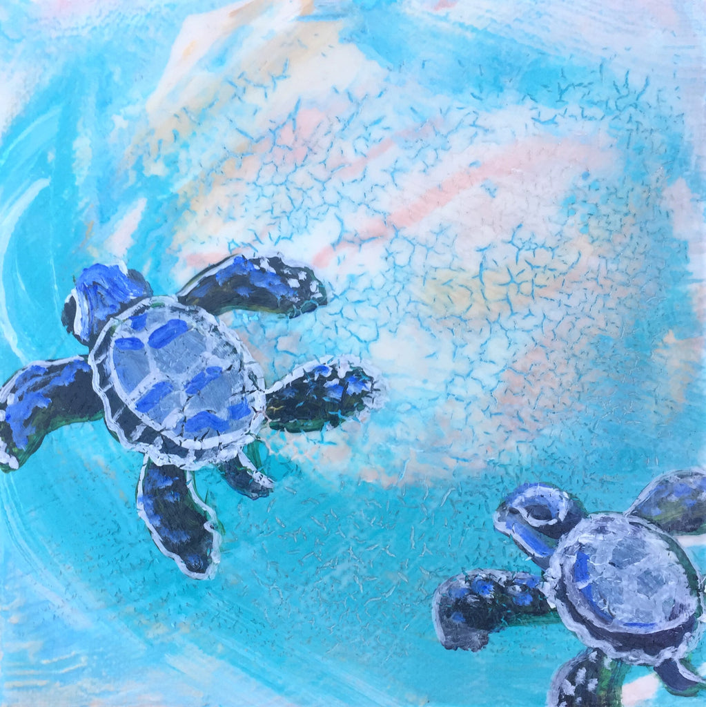Sea Turtle Baby Journey 7