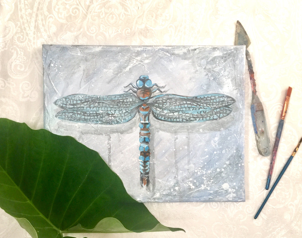 Blue Dragonfly Love