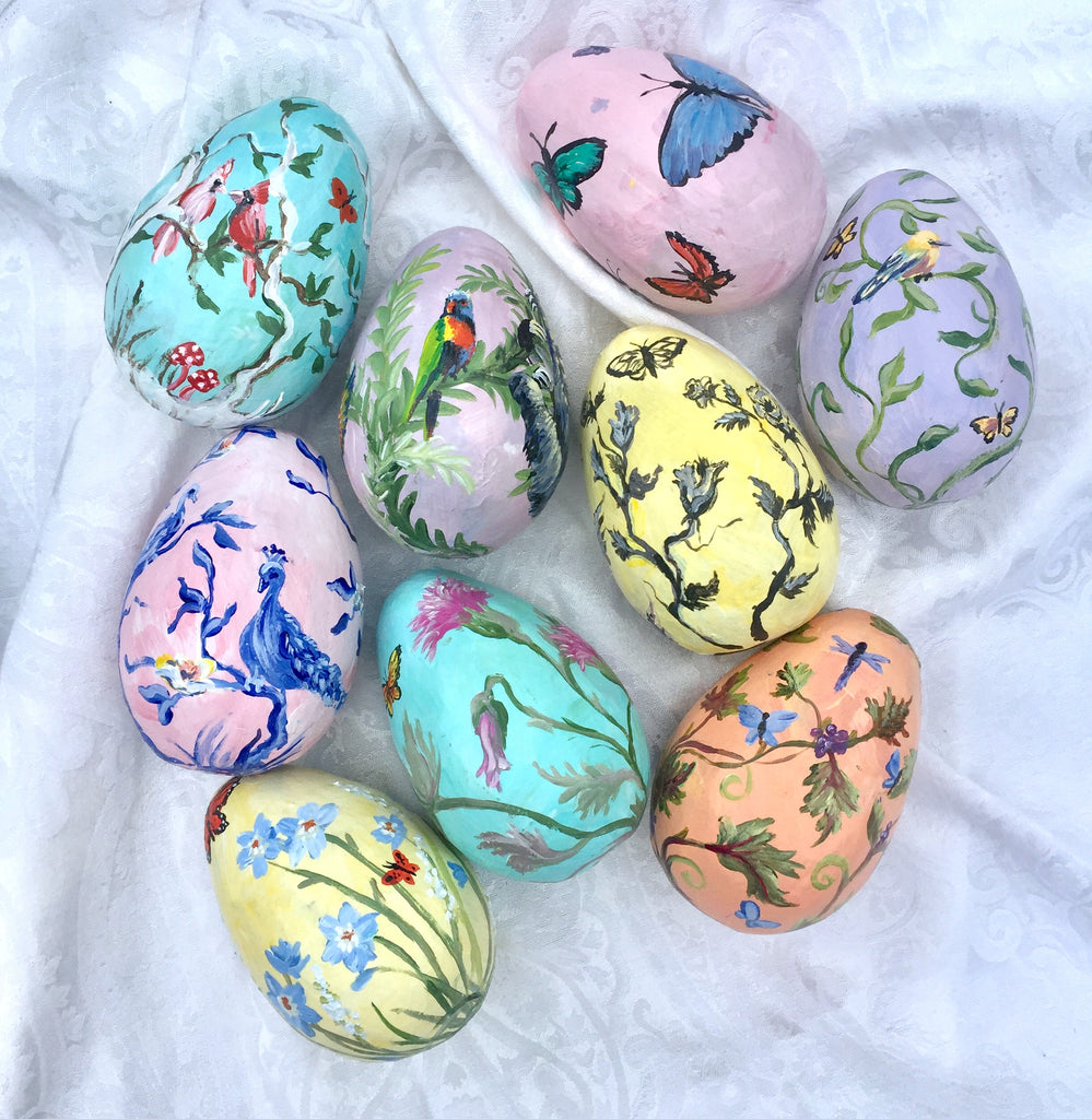 Hand-Painted Egg Featured Butterflies