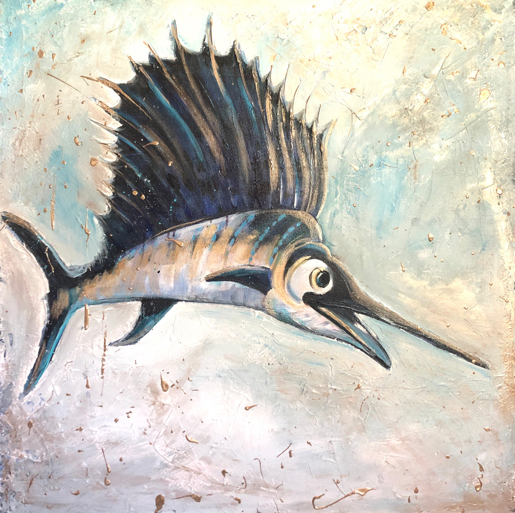 Sailfish in Gold