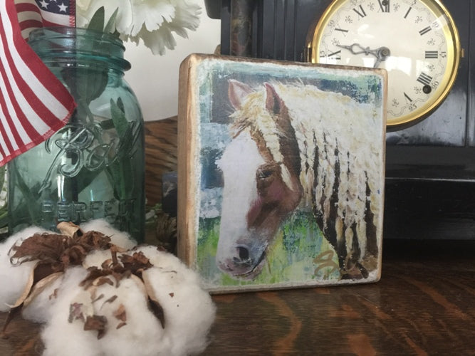 Gypsy Horse Wood Block