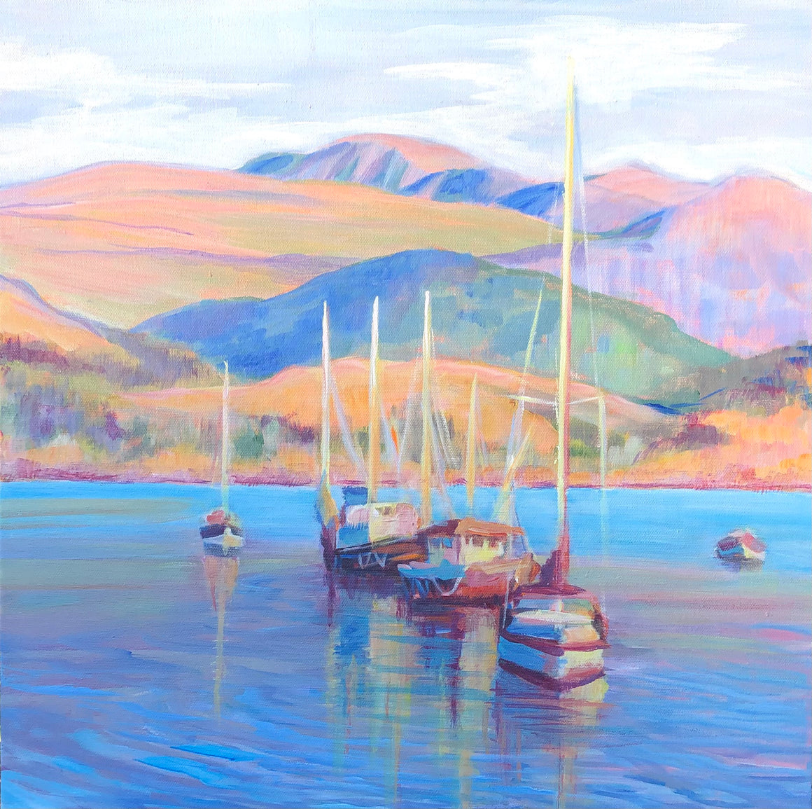 Ullapool Boats Paper Print