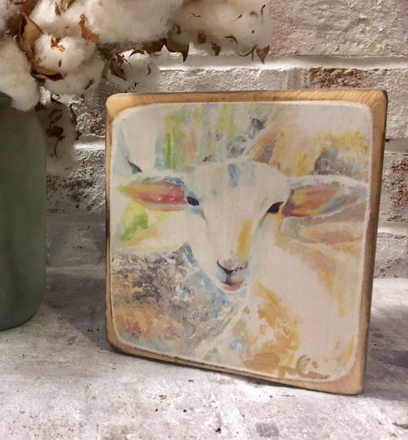 Sweet Lamb Wood Block