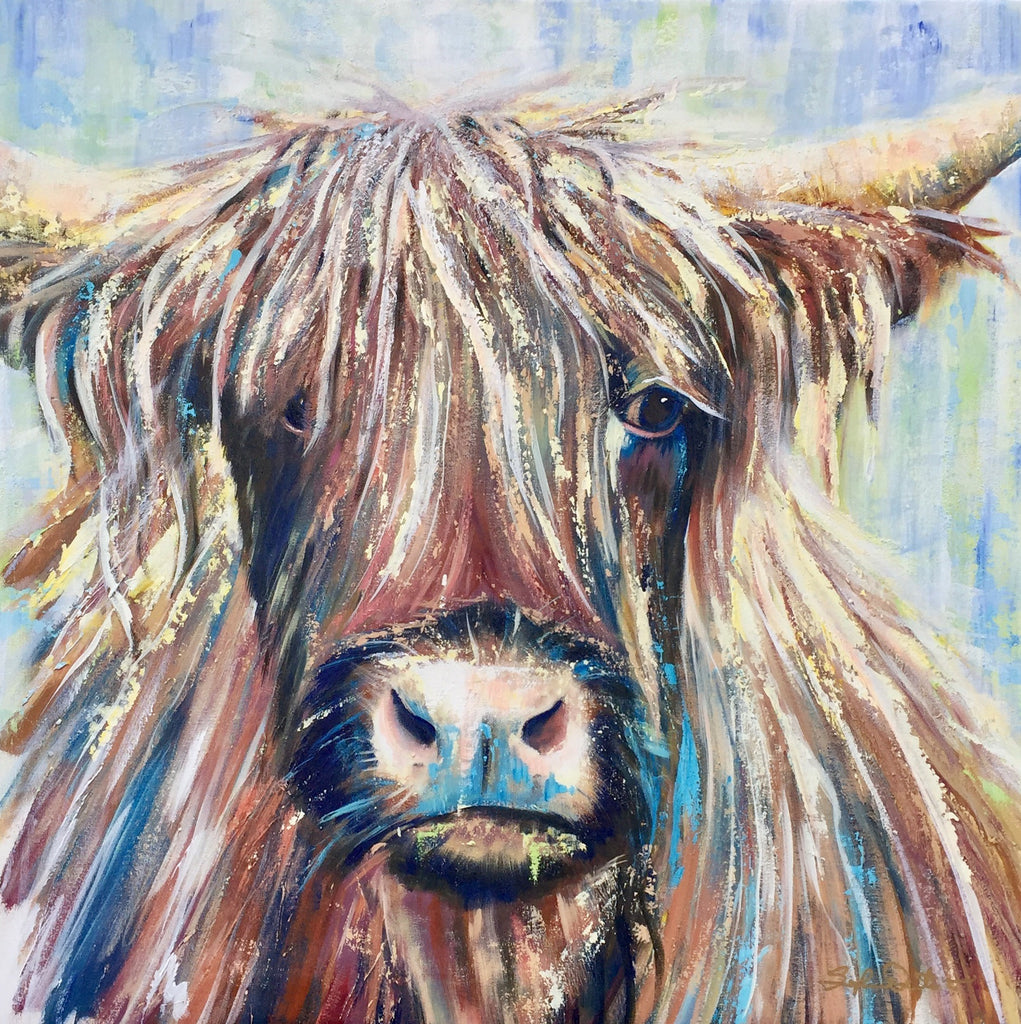 Scottish Highland Coo Paper Print