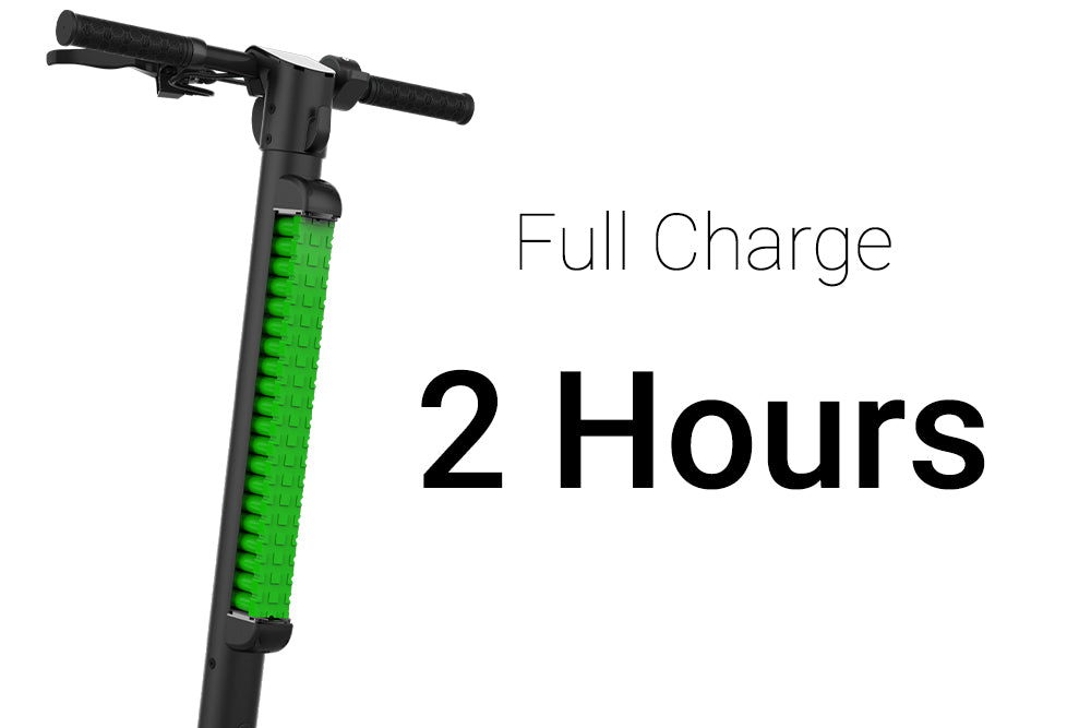 JIVR Scooter Full charge in two or five hours
