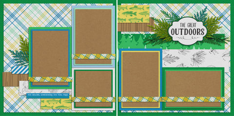 The Great Outdoors - 354 - EZscrapbooks Scrapbook Layouts Camping - Hiking, Hunting - Fishing