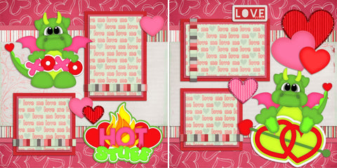 Hot Stuff - 37 - EZscrapbooks Scrapbook Layouts Love - Valentine