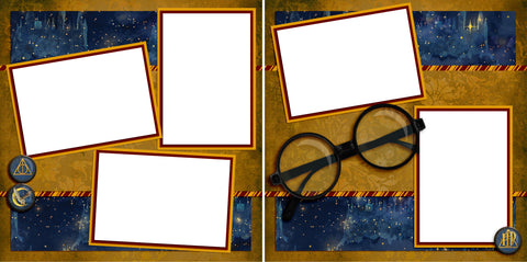 Wizard Glasses - Digital Scrapbook Pages - INSTANT DOWNLOAD - 2019
