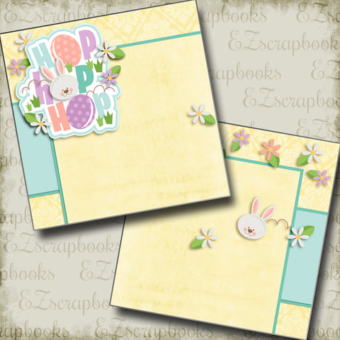 Hop Hop Hop NPM - 2972 - EZscrapbooks Scrapbook Layouts Spring - Easter