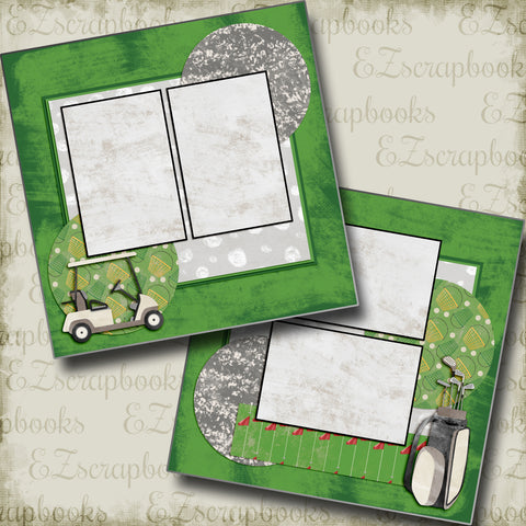 Golf Game - 5142 - EZscrapbooks Scrapbook Layouts Golf, Sports