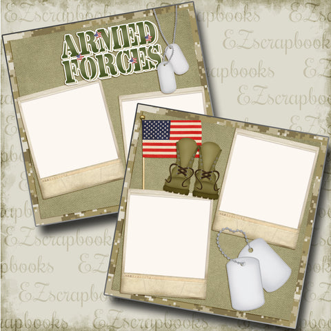 Armed Forces - 4876 - EZscrapbooks Scrapbook Layouts Military
