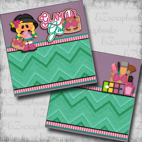 Glamour Girl with Girl NPM - 5359 - EZscrapbooks Scrapbook Layouts Girls