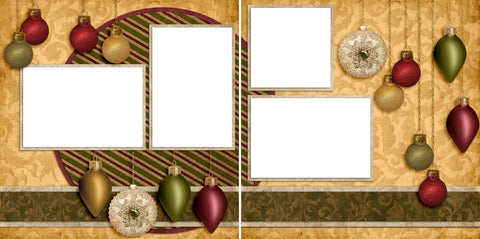 Christmas Bulbs - Digital Scrapbook Pages - INSTANT DOWNLOAD