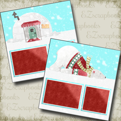 Polar Bear - 5174 - EZscrapbooks Scrapbook Layouts Christmas, Snow, Winter