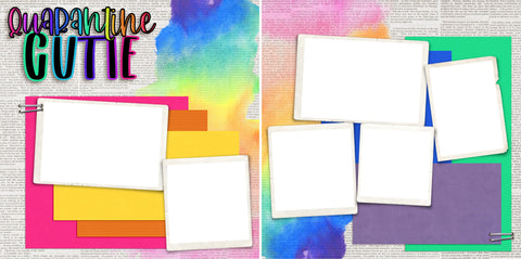 Quarantine Cutie - Digital Scrapbook Pages - INSTANT DOWNLOAD