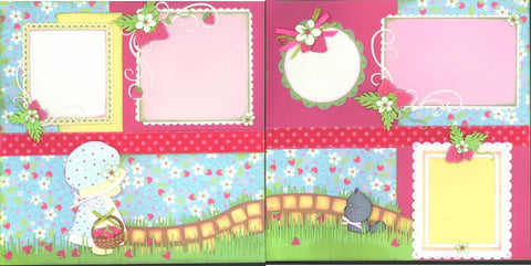 Picking Strawberries - 154R - EZscrapbooks Scrapbook Layouts retired