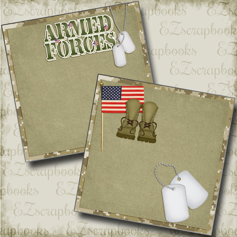 Armed Forces NPM - 4877 - EZscrapbooks Scrapbook Layouts Military