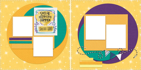 Social Distancing Champion - Digital Scrapbook Pages - INSTANT DOWNLOAD