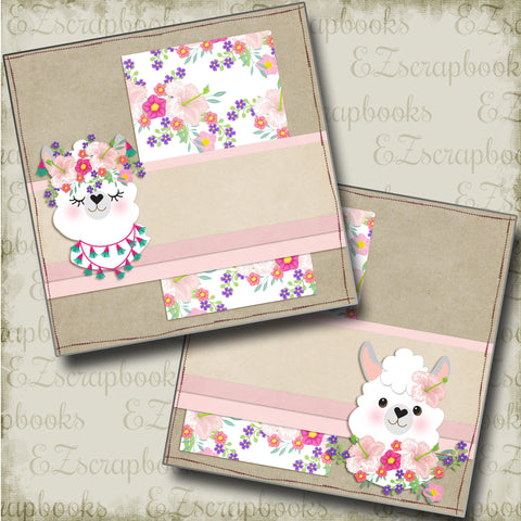 Flowers & Llamas NPM - 4889 - EZscrapbooks Scrapbook Layouts Other