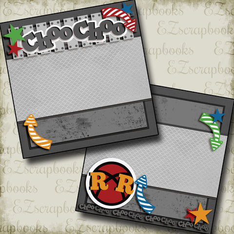 Choo Choo NPM - 2978 - EZscrapbooks Scrapbook Layouts Disney, train
