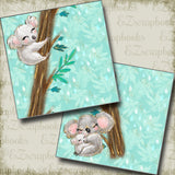 Koala Mama NPM - 5027 - EZscrapbooks Scrapbook Layouts Baby, Baby / Bridal Shower, Pregnancy