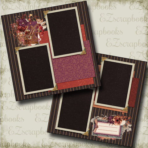 Fall Memories - 4460 - EZscrapbooks Scrapbook Layouts Fall - Autumn