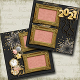 New Years Fireworks 2021 - 5218 - EZscrapbooks Scrapbook Layouts Birthday, New Year's, Other